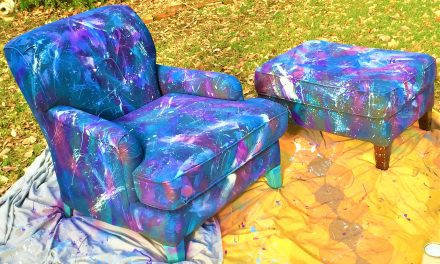 Easy Splatter-Painted Chairs