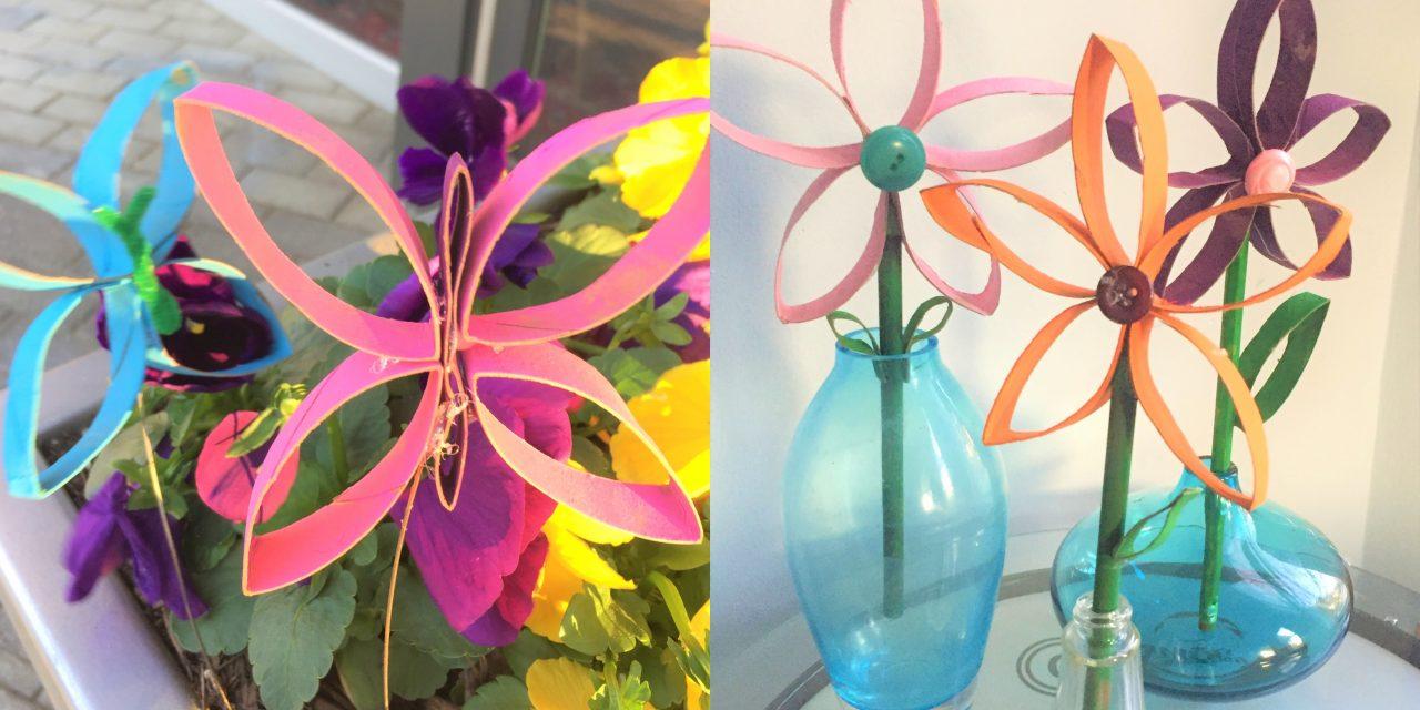 DIY: Toilet Paper Roll Flowers & Butterflies
