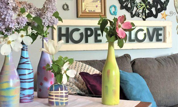 DIY: Transform Empty Bottles Into Spring Vases