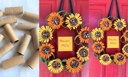 Mother's Day DIY: Sunflower Wreath Using Empty Toilet Paper Rolls