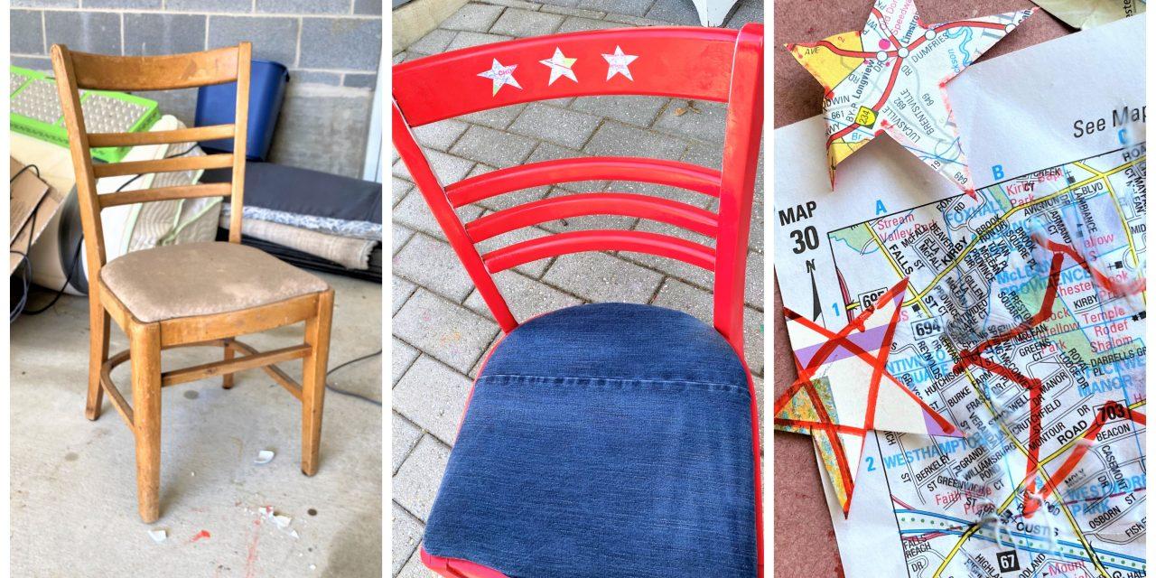 Summer DIY: Patriotic Chair