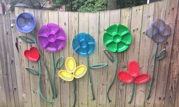 "No Green Thumb? Try ""Planting"" This Upcycled Flower Garden Instead"