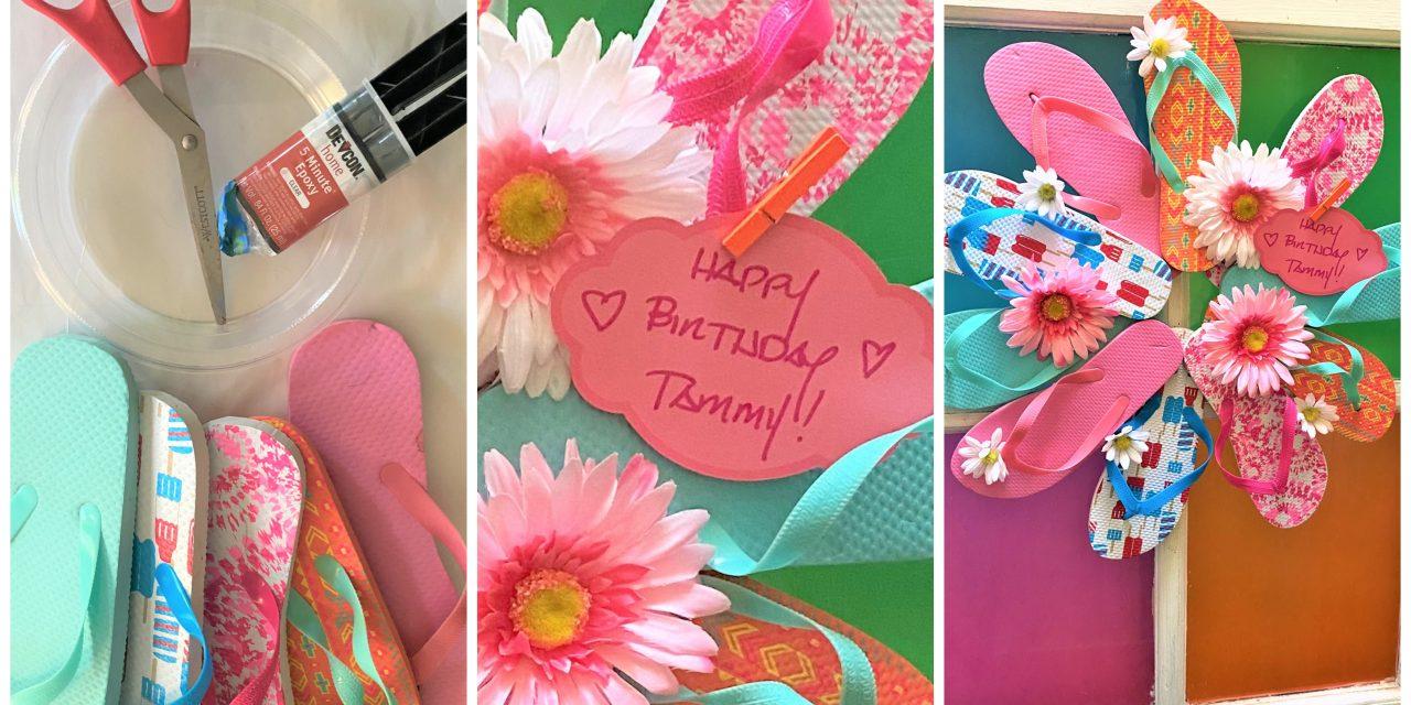 Birthday Gift DIY: Flip Flop Summer Wreath