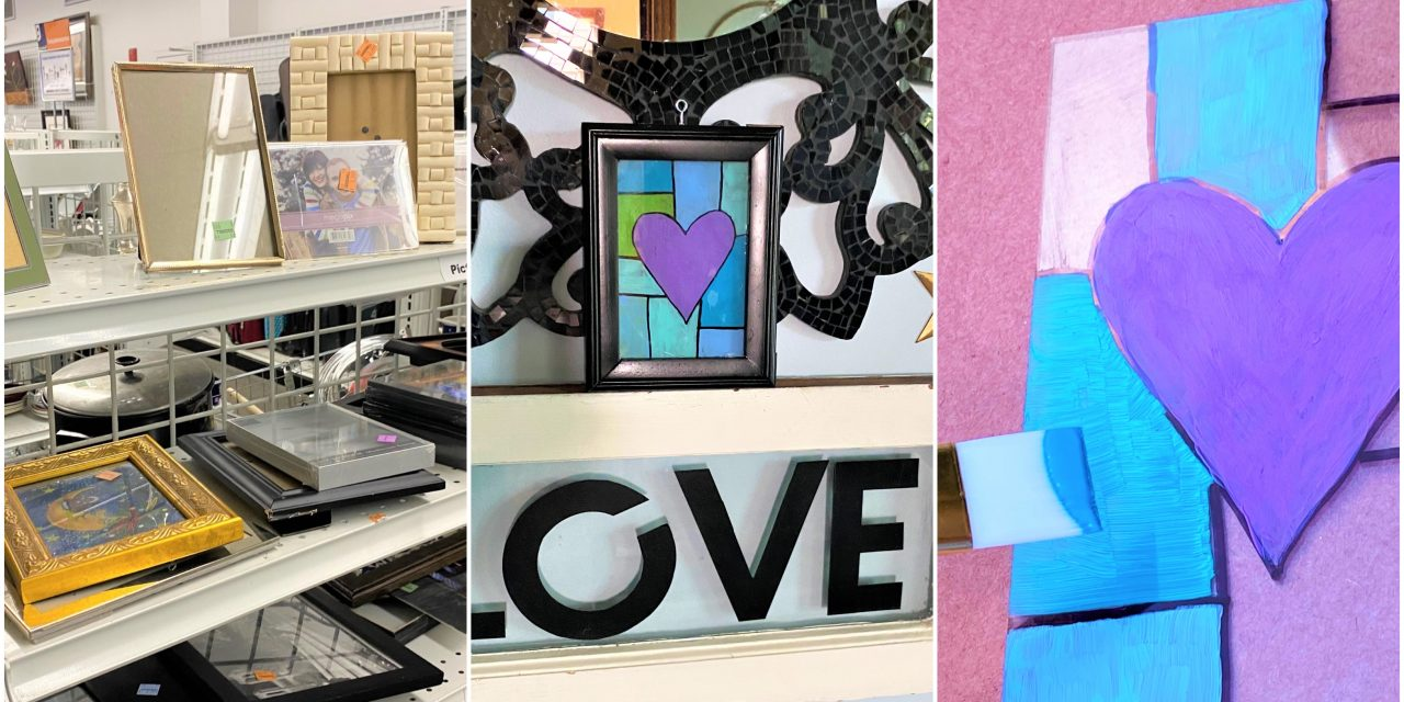 DIY: Frames Become Stained Glass Windows