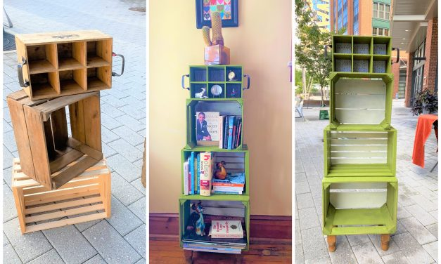 "DIY Shelves: You'll Say ""How Great!"" When You Upcycle with Crates"
