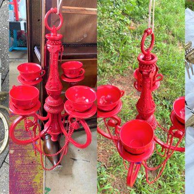 DIY: Upcycle a Chandelier Into a Bird Feeder