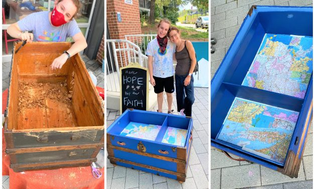 DIY: Repurposing an Heirloom Trunk is a Family Affair