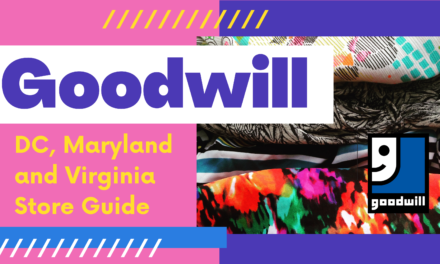 Goodwill of Greater Washington DMV Thrift Shopping Guide