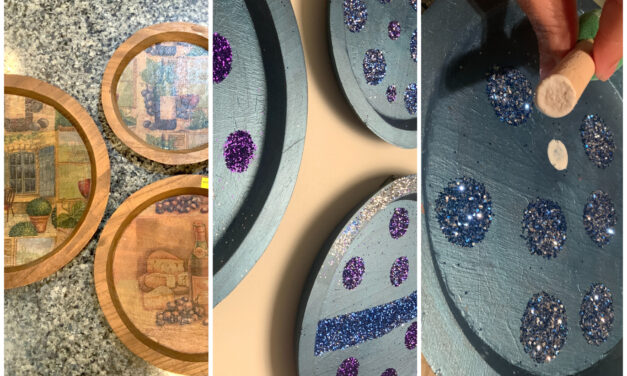 DIY: Add Glitz and Glitter to Your Home With Upcycled Oversized Ornaments