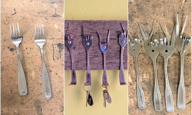 DIY: Turn Old Silverware Into Gold as Hooks