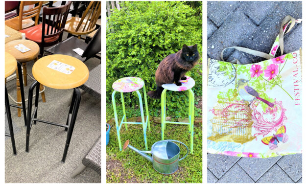 DIY Project: Repurpose a Shopping Bag to Upcycle Stools