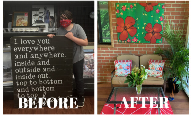 Upcycled Goodwill Artwork Fits My Space—And My Style—Perfectly!