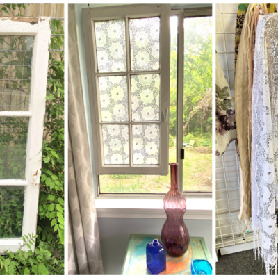 DIY Project: Scarf + Window Sash = Something Special
