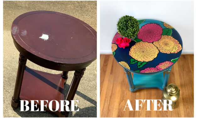 A Fun – And Functional – DIY Flower Table