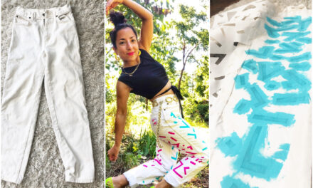 Save Stained Pants With a Stencil