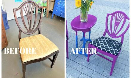 DIY:  Paint, Pattern & Purple Produces Pop!