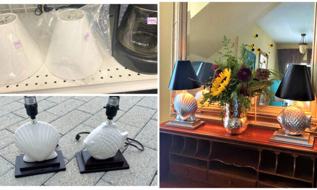 DIY: Create an Elegant Lamp Transformation Using Silver & Black