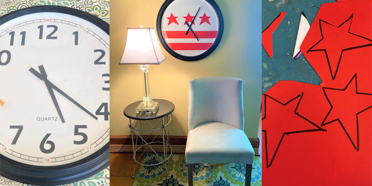 DIY: Transform a Clock with a DC Flag Look In No Time
