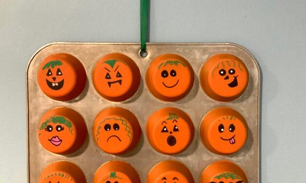 Halloween DIY: Muffin Pan Pumpkin Patch