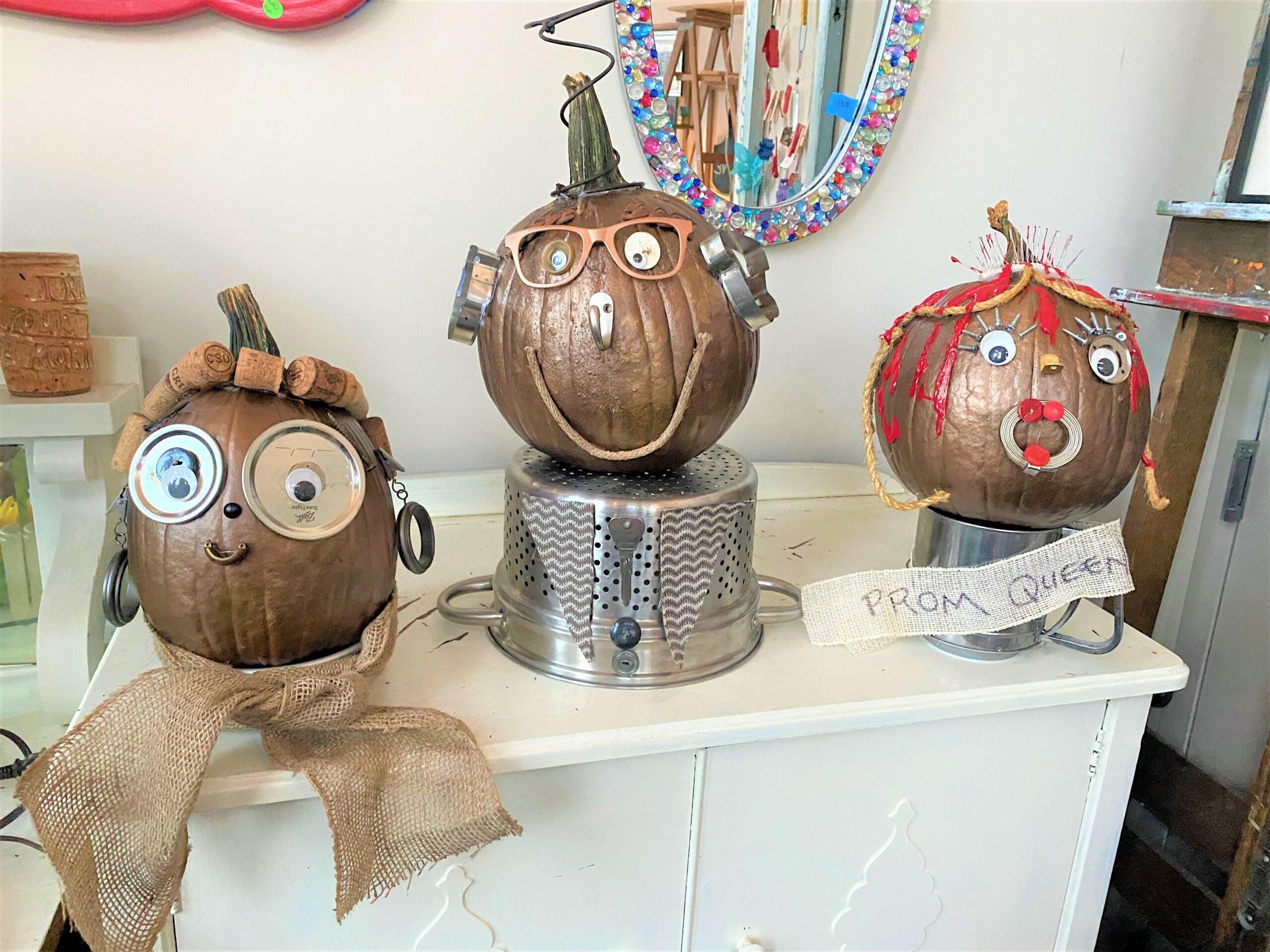 Halloween DIY: Decorate Pumpkins with Repurposed Items